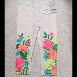 Carter's Girls Floral Flower Capri Leggings